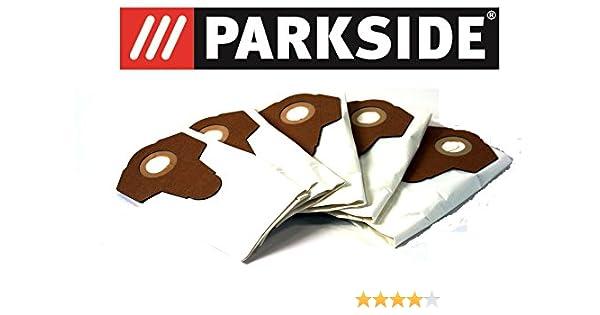 5 bolsas de aspiradora Fieltro/Bolsas para polvo fino polvo Parkside Lidl mojado aspiradora en seco pnts 1250, 1300, 1400, 1500 A1, B1, B2, B3, C1, ...