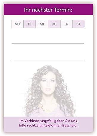 LYSCO Terminblock Set (Friseur, 24 Stück) - Premium Terminblöcke für Ihre Kundentermine mit je 50 Terminkarten/Blätter pro Block.