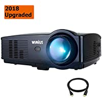 Projector, WiMiUS Upgraded T4 3500 Lumens Home Theater Projector Support Full 1080P 50,000H LED Compatible with Amazon Fire TV Stick Laptop iPhone Android Phone Xbox Via HDMI USB VGA AV