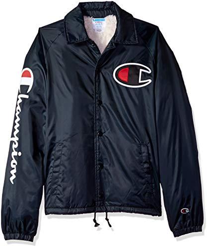 Champion LIFE Men's Sherpa Lined Coaches Jacket, Black, XX-Large