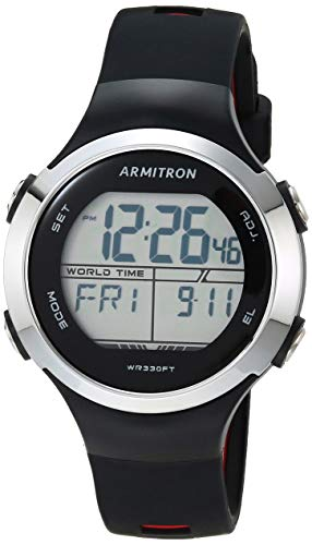 ساعت مچی زنانه دیجیتال آرمیترون مدل 45/7127BRD با بند سیلیکونی