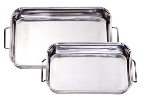 ELO 53630 Stainless Steel 11.75-Inch By 8.75-Inch Roasting Pan