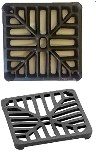 5 X 5 127mm X 127mm 9mm Thick Square Cast Iron Gully Grid Grate Heavy Duty Drain Cover Black Satin Finish Amazon Co Uk Diy Tools