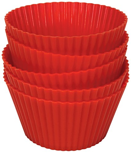 Philips HD9909/00  Silicone Muffin Cups Reusable, Airfryer Red Pack Of 5 Red ()