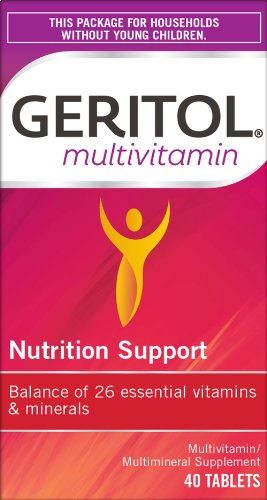Geritol Multi-Vitamin Nutritional Support Tablets, 40 Count, Multivitamin/Multimineral Supplement for Adults, High in…