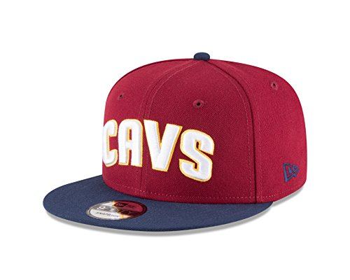 New Era NBA Cleveland Cavaliers Men's 9Fifty 2Tone Snapback Cap, One Size, Cardinal (Cleveland Cavaliers Hat Cap)