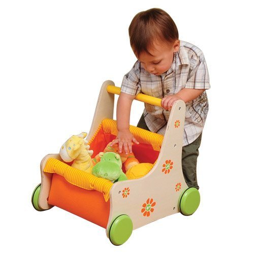 Beginner's Buggy Wooden Push Toy For Kids