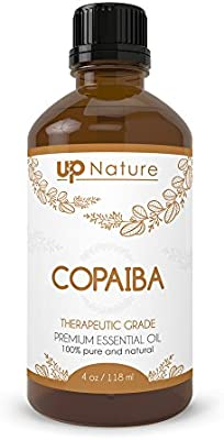 Copaiba Essential Oil - Pure, Natural, Undiluted, Unfiltered, Non-GMO - Reduce Pain, Inflammation & Relieve Congestion - Anti-fungal - Heal Scars & Prevent Infection - with Dropper (4 oz.)
