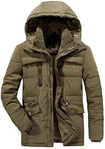 Taille Grande Blouson Coton Moxishop Fourrure Chaud Manteau Épaissir A Capuche Pardessus Parka Kaki Hiver Hommes Padded Mens Outwear Jacket HqxRFa