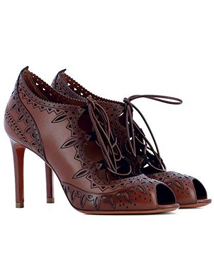 Chaussures Santoni Talons WDGN56431HA2THYLM32 Cuir À Marron Femme qr8zg8wPWI