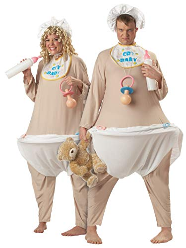Funny 2 Person Halloween Costume Ideas (California Costumes Men's Cry Baby, Flesh, One)