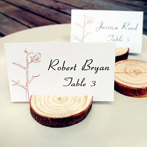 BROSCO Set of Chic Shabby Card Wood Holder Rustic Wedding Place Card Table DР