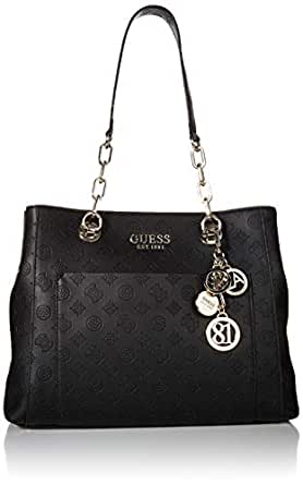 GUESS Women's Ilenia Girlfriend Satchel, Black - SG747323