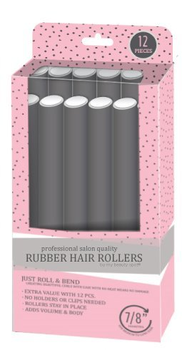 My Beauty Spot Professional Salon Quality Rubber Hair Rollers (Grey) by My Beauty Spot