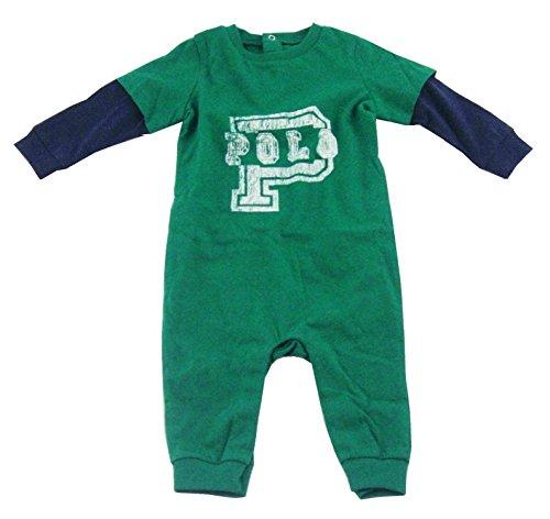 Ralph Lauren Baby Boys Long Sleeve Romper, England Green, 6 Months