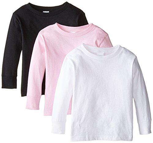Clementine Little Girls' Toddler Long Sleeve Basic T-Shirt ()