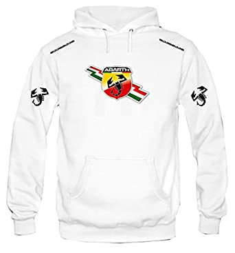 Sudadera con capucha personalizado abarth auto racing italia (L)