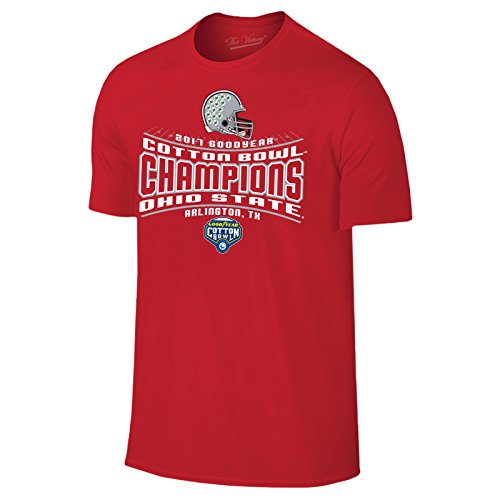 Ohio State Buckeyes 2018 Goodyear Cotton Bowl Champions Football T Shirt   Small   Red