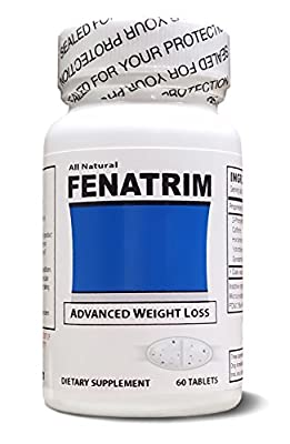 FENATRIM Weight Loss Diet Pills (One Bottle | 60 Oval Tablets)- Appetite Suppressant & Fat Burner | Energy