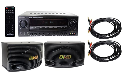 Acesonic AM-200 Amplifier Bundle with BMB CSN-500 10