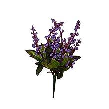 Cocainat 5PCs Lily Of Valley Artificial Flowers Wedding Decoration Decor Home Garden Artificial Plantss Vases Bouquet Deep Purple 5PCs