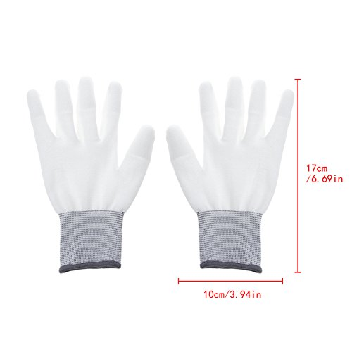 Techinal 10 Pair Anti Static Antiskid Glove for PC Computer ESD Electronic Working Repair Gloves 8.66'' x 3.94'' by Techinal