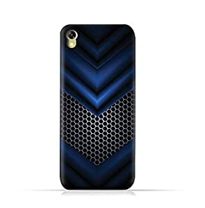 Infinix Hot 5 X559 TPU Silicone Protective Case with Abstract Blue Mesh Pattern