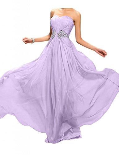 Toscana noche de novia Mode Noche de forma de corazón para ropa larga gasa transparente dama de honor Party Ball Prom morado
