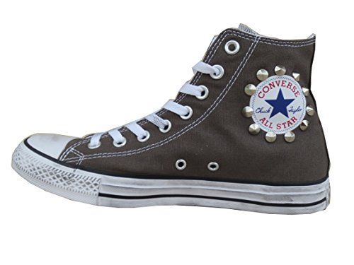 All Star Personalizzate Artigianale prodotto Converse Borchiate Borchie Grigio Charcoal d5dx7Z