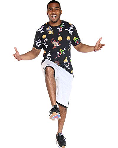 Looney Toons Tweety Bird - VIM Mens Looney Toons Print Tee - Black,Black,XXL