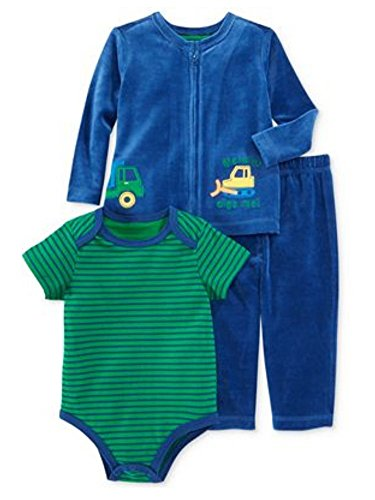 First Impressions Sweater - First Impressions Infant Boy Blue Velour Dump Truck Pants Shirt Sweater 18m