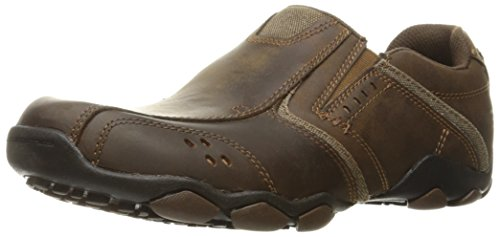 Skechers Mens Diamètre Valen Slip-on Mocassin Marron Foncé
