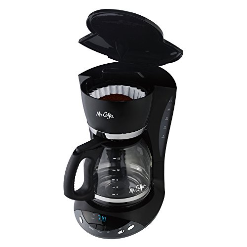 Mr. Coffee DWX23 12-Cup Programmable Coffeemaker, Black
