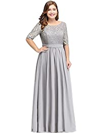 Women Plus Size Chiffon Evening Dresses Long Prom...