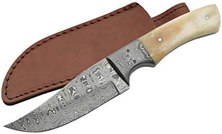 Damascus Szco Supplies Bone Clip Point Knife