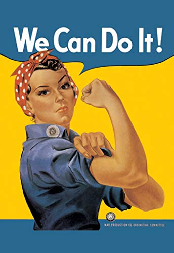 Buyenlarge Rosie The Riveter We Can Do It War Production Co-Coordinating Committee by J. Howard Miller Wall Decal, 48
