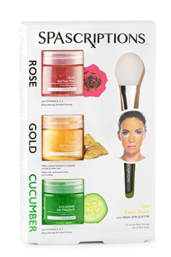 Spascriptions Rose, Gold & Cucumber Gel Face Mask