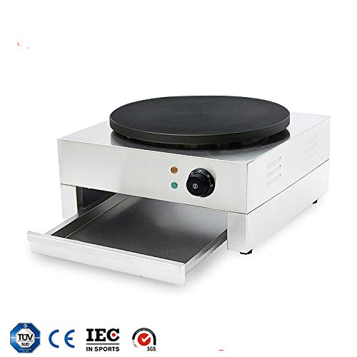 HUIDANGJIA 16'' Electric Crepe Machine Commercial Crepe Maker Machine Pancake Griddle Electric Non-stick Hot Plate Snack Machine 110V by HUIDANGJIA