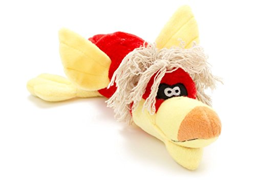 Bird Stuffed Dog Toy with Squeaker and Rope Hair, ()