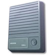 VALCOM - Talkback Doorplate Surface Speaker- Gray