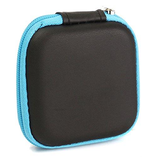 M.Way Waterproof Carrying Hard Case Box Headset Earphone Earbud Storage Pouch Bag Blue