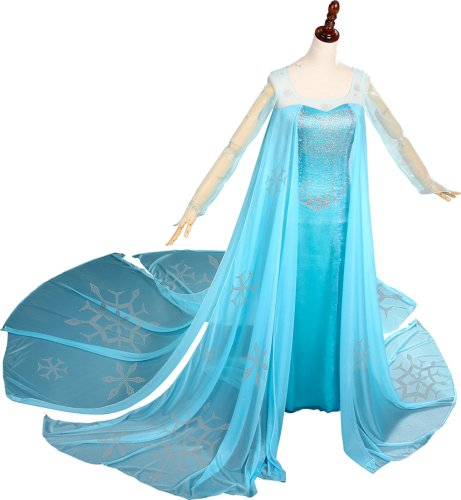 Doremo Women's Disney Animation Frozen Princess Elsa Dress