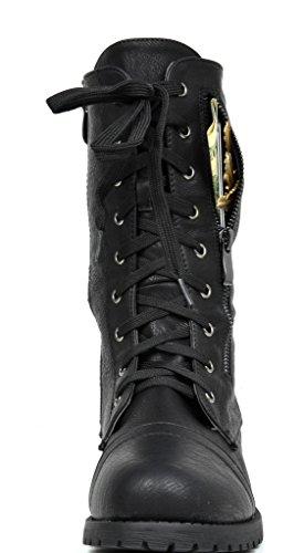 Drømme Par Kvinners Nye Vinter Snøring Kamp Booties Boots Terran-svart