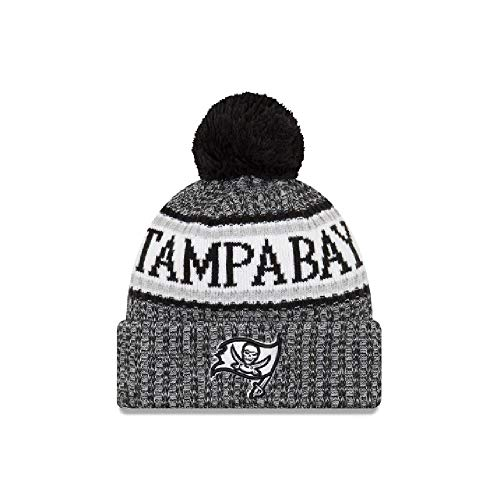 Tampa Bay Buccaneers New Era Cuffed Knit Hat with Pom Black ()