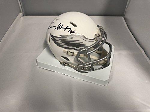 Carson Wentz Signed Autographed Philadelphia Eagles RARE ICE SPEED Mini Helmet COA & Hologram (Autographed Helmets Philadelphia Eagles)