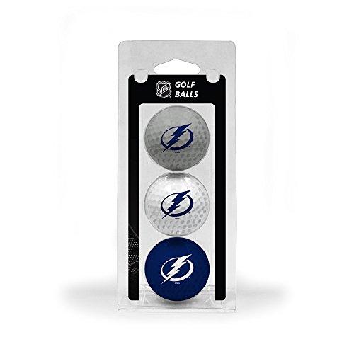 Team Golf NHL Tampa Bay Lightning Regulation Size Golf Balls, 3 Pack, Full Color Durable Team Imprint