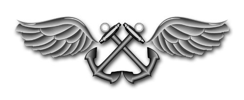 Aviation Boatswains Mate (US Navy Aviation Boatswain's Mate Rating Badge Decal Sticker 3.8