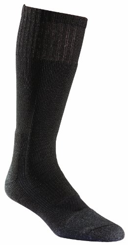 Fox River Military Wick Dry Maximum Mid Calf Boot Sock, Black, Large (Best Combat Boot Socks)