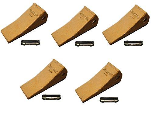 230 John Deere, Case, Backhoe Bucket Teeth With Extra Long Flex Pins (SET OF 5) (Backhoe Steer)