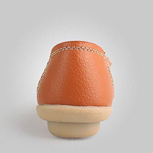 Traspirante US5 CN35 Infermiera UK3 Da Donna EU36 Black Confortevole Scarpe Antiscivolo Scarpe Lavoro Orange Scarpe Scarpe Da SHANGXIAN Casuale Di 5 Pelle Ufficio 5 Mamma 0qOnU